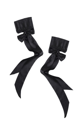 Classic Silk Black Cuffs - Ayten Gasson