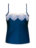 Layla Peacock Blue Silk Camisole by Ayten Gasson
