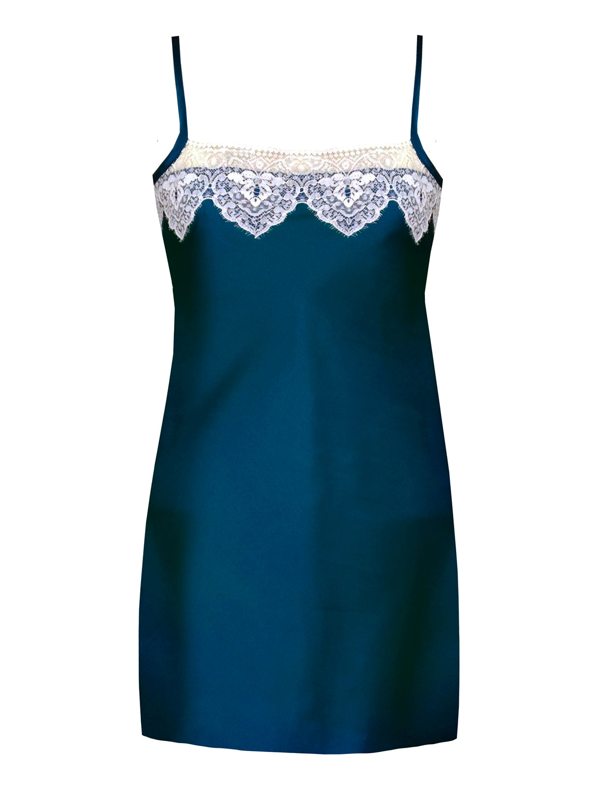 Layla Peacock Blue Silk Slip By Ayten Gasson
