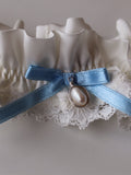Lianne Luxury Ivory Silk & Lace Garter With Detachable Pendent
