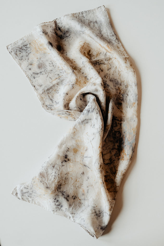 Plant Dyed Silk Scarves | Square