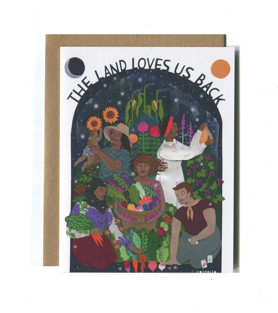 The Land Loves Us Back Card