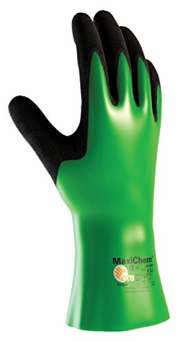 Maxichem 56-630/Xxl Nitrile Blend Coated Glove With Nylon/Lycra Liner And Non-Slip Grip On Palm And Fingers, 12