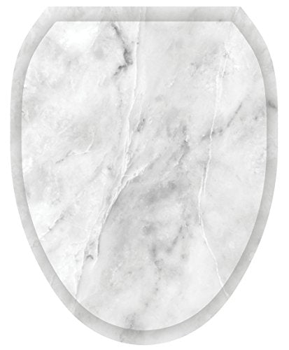 Toilet Tattoos, Toilet Seat  Cover Decal,Calcutta Marble, Size  Elongated