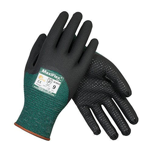 Maxiflex Cut 34-8453/Xxl Seamless Knit Engineered Yarn Glove With Premium Nitrile Coated Micro-Foam Grip On Palm, Fingers And Knuckles