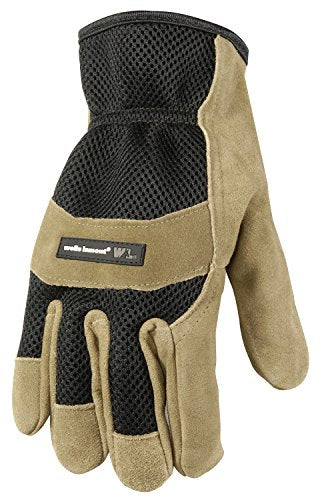 Wells Lamont Leather Work Gloves, Suede Cowhide Palm Ultra Comfort, Medium (861M)