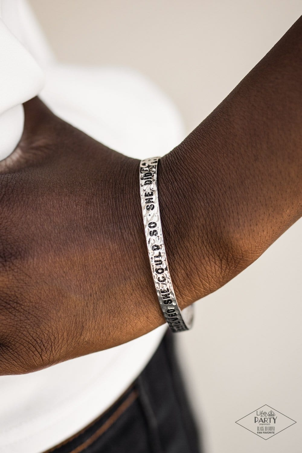 She Believed She Could - Silver: Paparazzi Accessories - Jewels N' Thingz Boutique