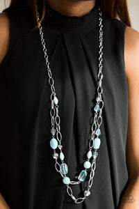 Paparazzi: GLEAM Weaver - Blue Necklace - Jewels N' Thingz Boutique
