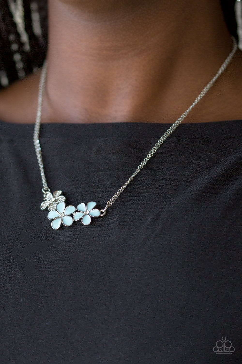 Hibiscus Haciendas - Blue: Paparazzi Accessories - Jewels N' Thingz Boutique