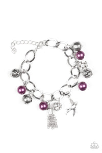 Paparazzi: Lady Love Dove - Purple Bracelet