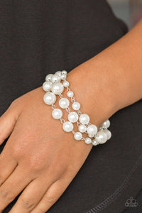 Paparazzi: Until The End Of TIMELESS - White Pearl Bracelet