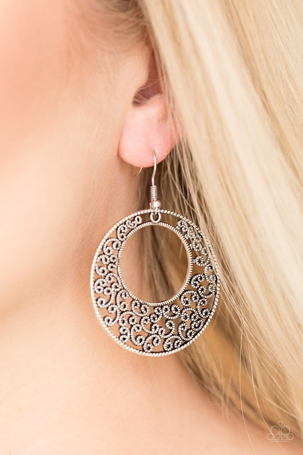 Paparazzi: Wistfully Winchester - Silver Earrings - Jewels N' Thingz Boutique
