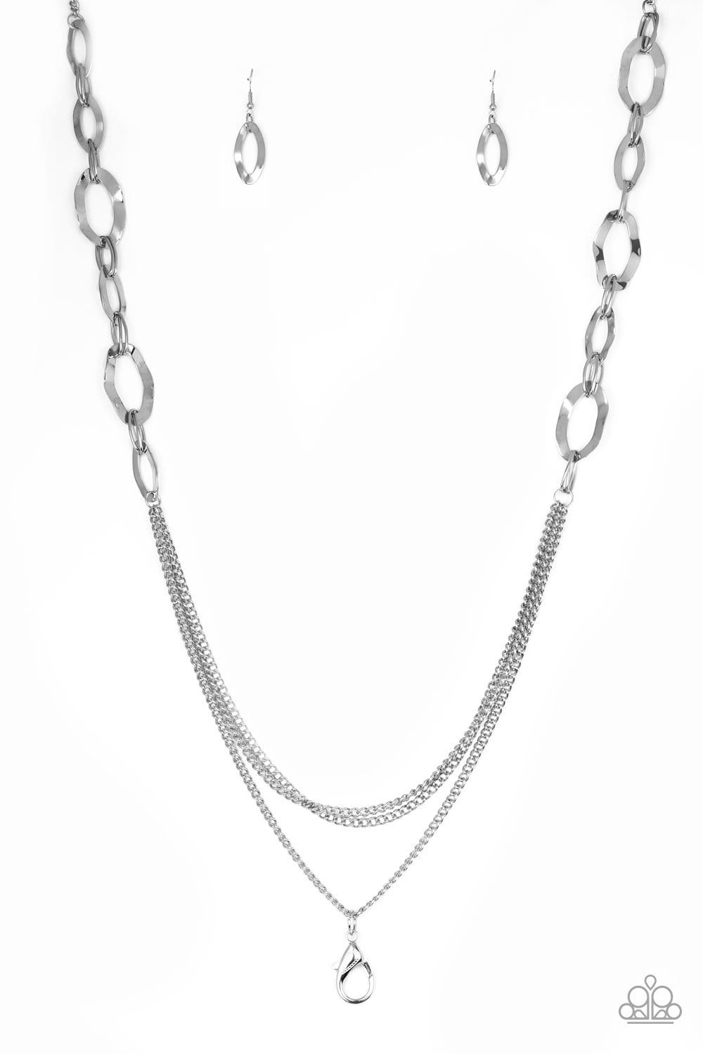Paparazzi: Street Beat - Silver Chain Necklace