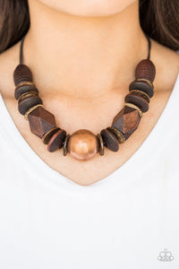 Paparazzi: Grand Turks Getaway - Copper Wooden Necklace