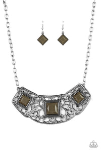 Feeling Inde-PENDANT- Green: Paparazzi Accessories - Jewels N' Thingz Boutique