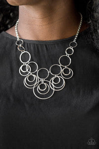 Paparazzi: Break The Cycle - Silver Hoop Necklace