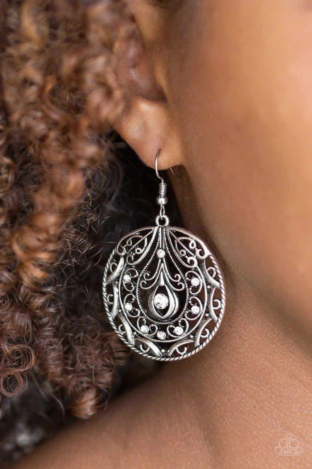 Paparazzi: Choose To Sparkle - White Rhinestone Earrings - Jewels N' Thingz Boutique