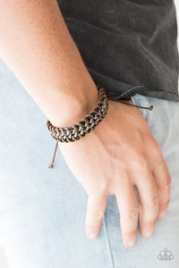 Racer Edge - Brown: Paparazzi Accessories - Jewels N' Thingz Boutique