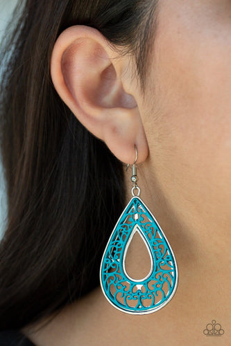 Flamingo Flamenco - Blue Earrings: Paparazzi