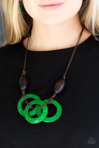 Bahama Drama - Green: Paparazzi Accessories - Jewels N' Thingz Boutique