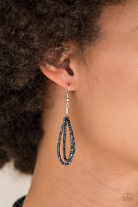 Knotted Knockout - Blue: Paparazzi Accessories - Jewels N' Thingz Boutique