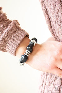Stone Age Stunner - Black: Paparazzi Accessories - Jewels N' Thingz Boutique