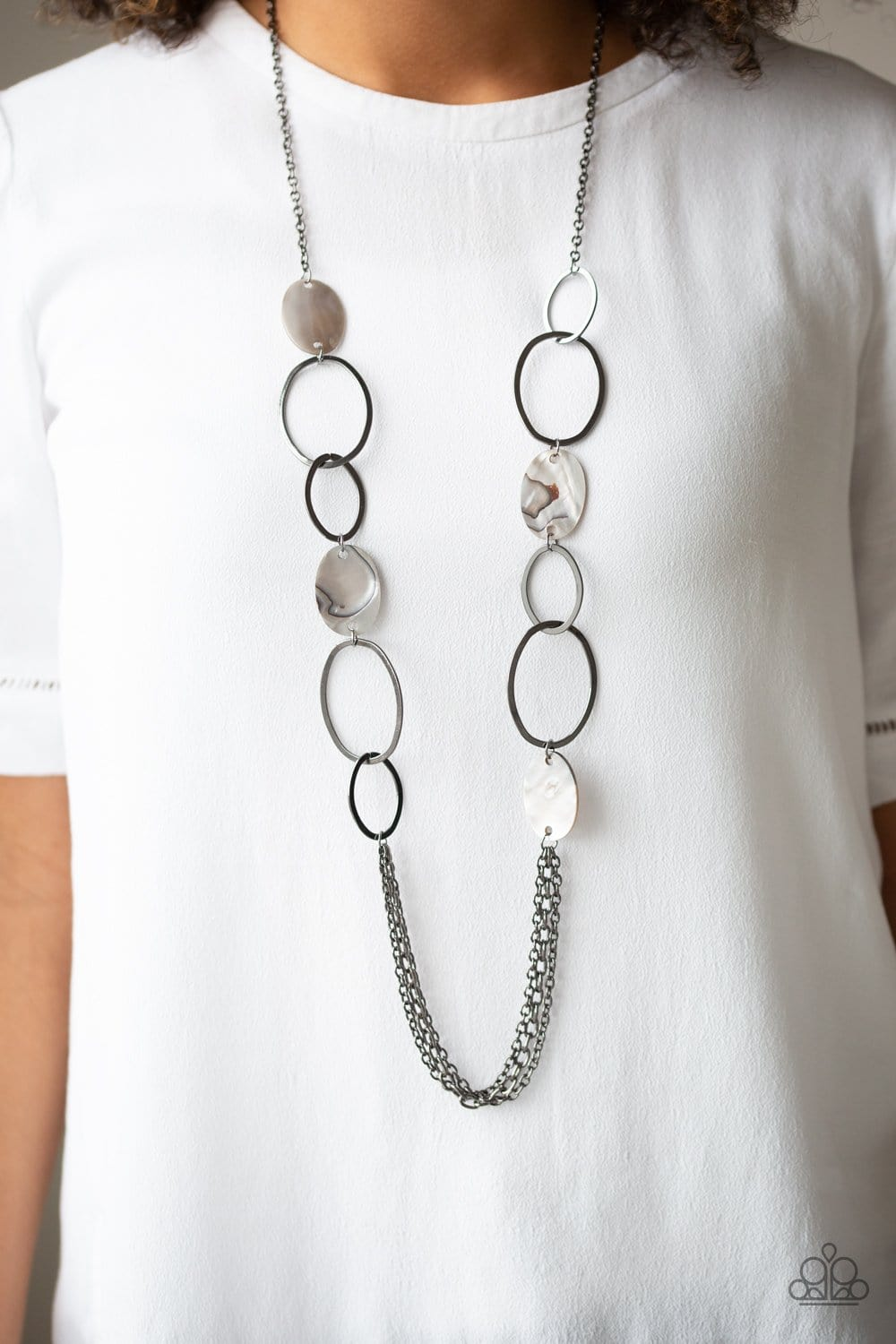 Paparazzi: Kaleidoscope Coasts - Black Chain Necklace - Jewels N' Thingz Boutique