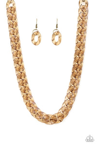 Put It On Ice - Brass: Paparazzi Accessories - Jewels N' Thingz Boutique