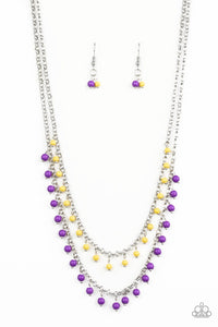 Paparazzi: Dainty Distraction - Purple Beads Necklace - Jewels N' Thingz Boutique