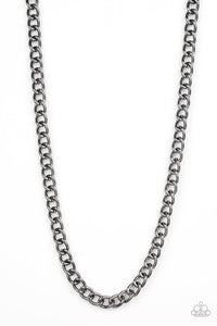 Paparazzi: Full Court - Black Chain Necklace