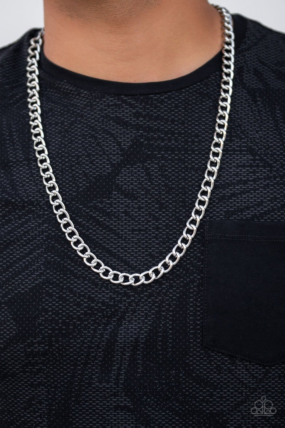Paparazzi: Full Court - Silver Chain Necklace - Jewels N' Thingz Boutique