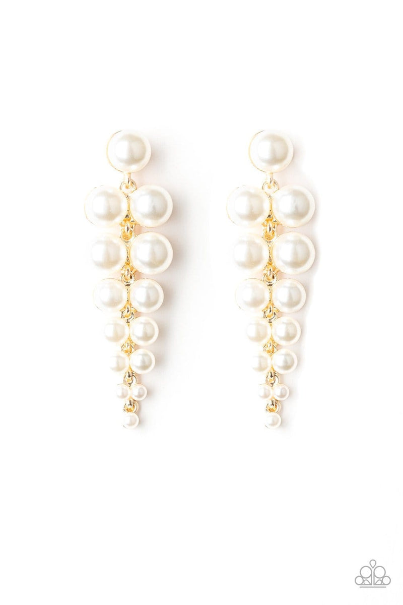 Totally Tribeca Gold Pearl Earrings Paparazzi