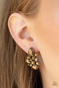 Paparazzi: Galaxy Glimmer - Brass Earrings