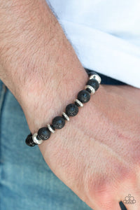 Paparazzi: Truth - Silver Lava Bead Bracelet - Jewels N' Thingz Boutique
