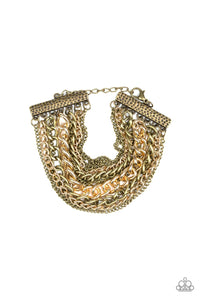 Metallic Horizon - Brass: Paparazzi Accessories - Jewels N' Thingz Boutique