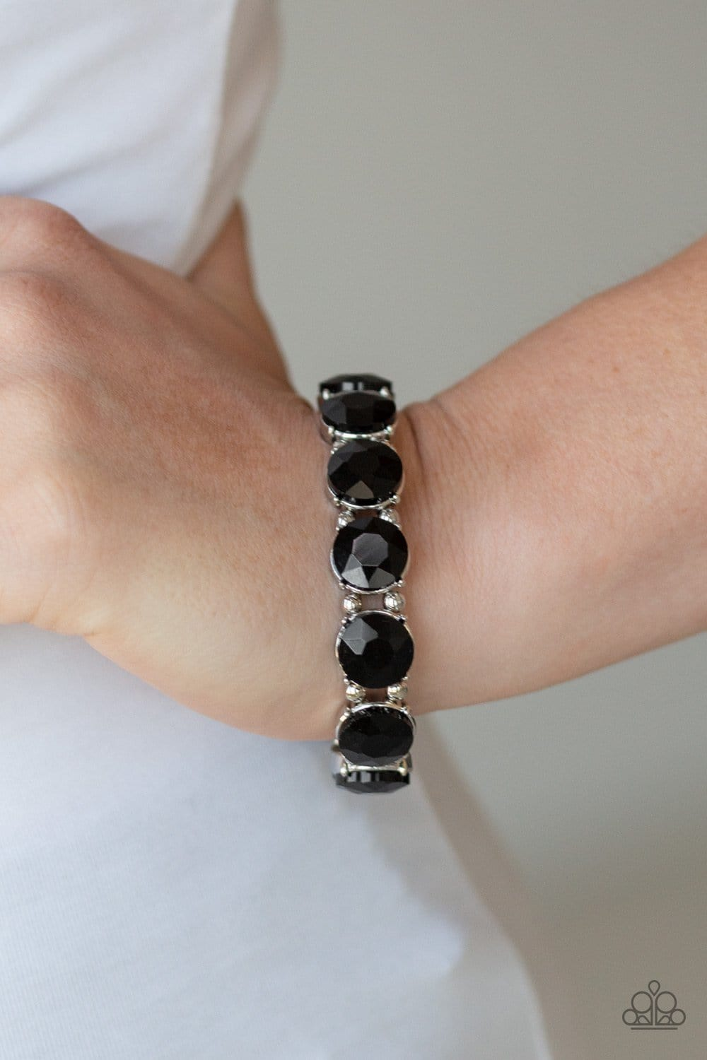 Paparazzi: Glitzy Glamorous - Black Bracelet - Jewels N' Thingz Boutique