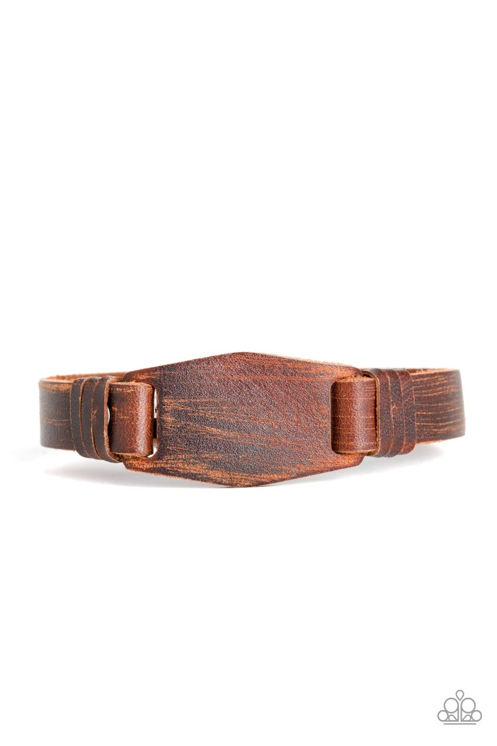 Paparazzi: Plainly Pioneer - Brown Leather Bracelet - Jewels N' Thingz Boutique