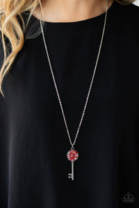 Paparazzi: Key Keepsake - Red Long Necklace