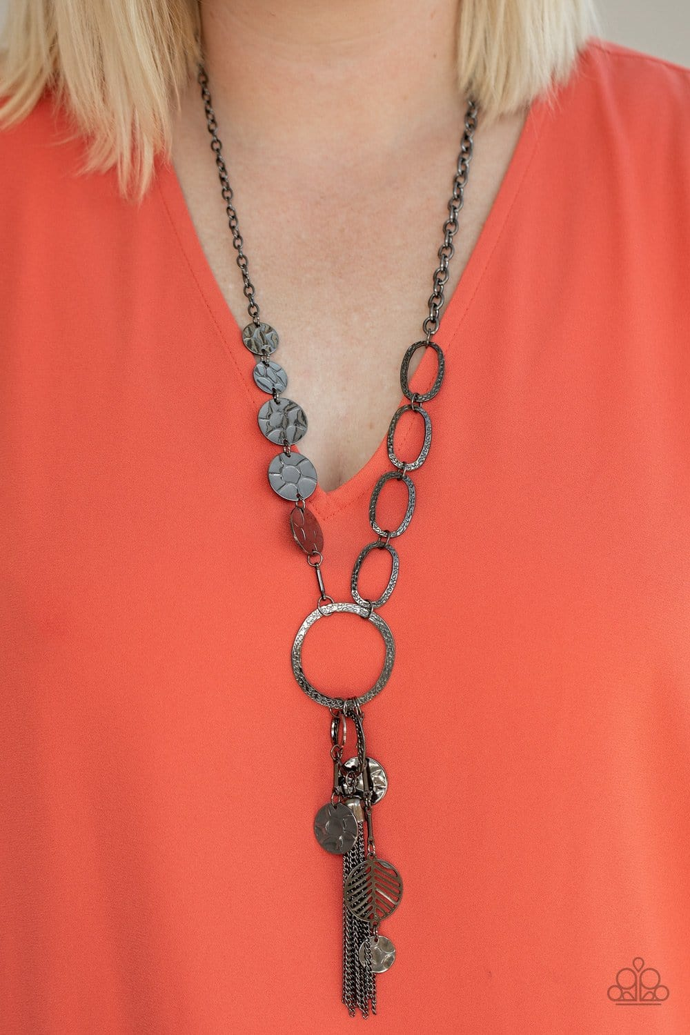Paparazzi: Trinket Trend - Gunmetal Chain Tassel Necklace - Jewels N' Thingz Boutique