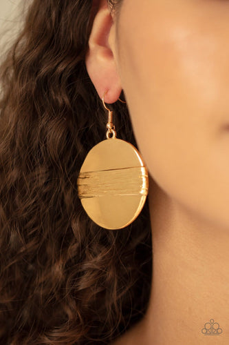 Ultra Uptown - Gold Earrings: Paparazzi