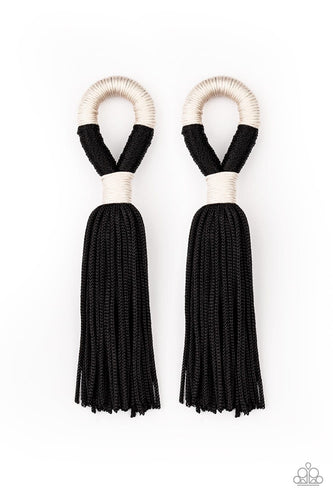 Moroccan Mambo - Black Earrings: Paparazzi
