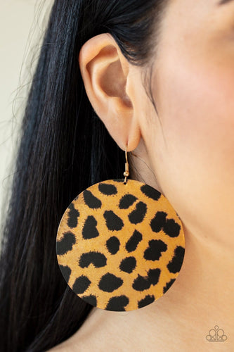 Doing GRR-eat - Cheetah Earrings: Paparazzi