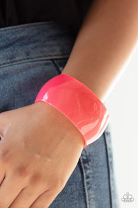 Fluent In Flamboyance - Pink Acrylic Bracelet: Paparazzi - Jewels N' Thingz Boutique