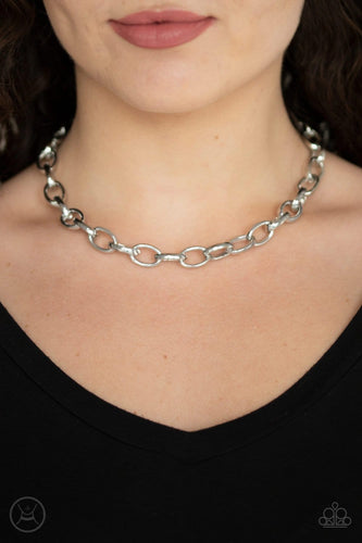 Paparazzi: Urban Uplink - Silver Choker Necklace
