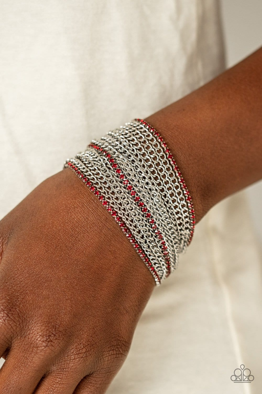 Paparazzi: Pour Me Another - Red Chain Bracelet
