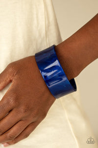 Paparazzi: Glaze Over - Blue Acrylic Cuff Bracelet - Jewels N' Thingz Boutique