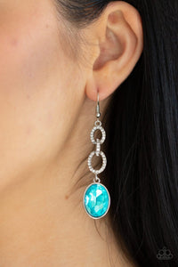 Paparazzi: Extra Ice Queen - Blue Rhinestone Earrings - Jewels N' Thingz Boutique