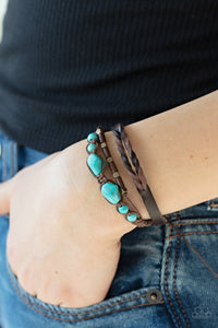 Paparazzi: Trail Magic - Blue/Turquoise Bracelet - Jewels N' Thingz Boutique