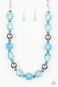 Paparazzi: Very Voluminous - Blue Crystal-Like Necklace