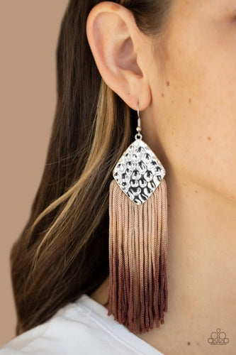 Dip In - Brown Ombre Earrings: Paparazzi